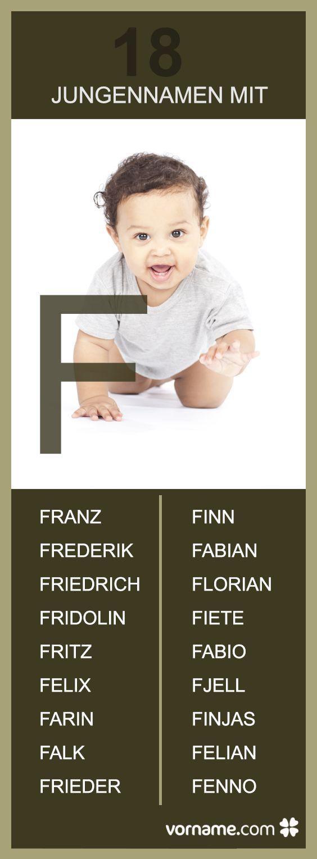 Frieder, Finn und Felix - Du bist auf der Suche nach einem hübschen Vornamen für Deinen Sohn, der mit F beginnt? Hier findest Du eine große Auswahl!
