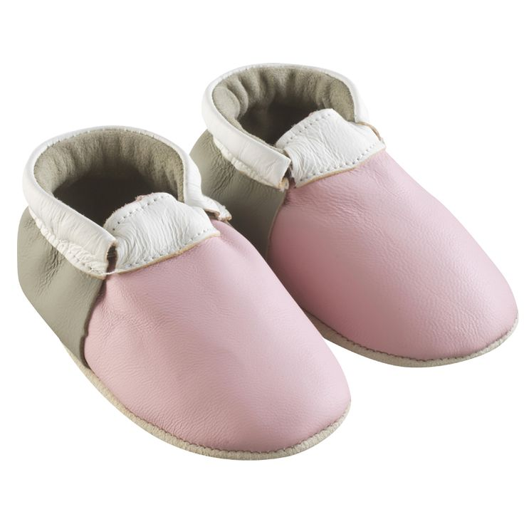 Rose, Taupe , Blanc > http://www.tichoups.fr/chausson-cuir-souple-sans-motif/chaussons-bebe-cuir-souple-ticolo-rose-taupe-blanc.html