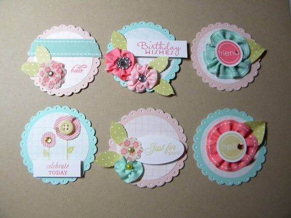 Melissa Bickford's awesome embellishments.