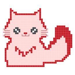 Idea Kristik: Pola Kristik Gratis : Kucing