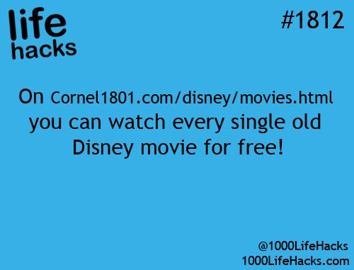 Copy the URL here: cornel1801.com/disney/movies.html