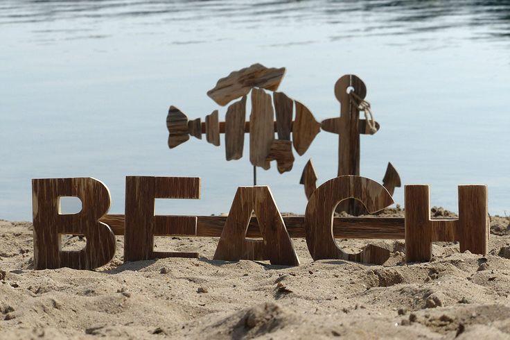 Beach-Schriftzug
