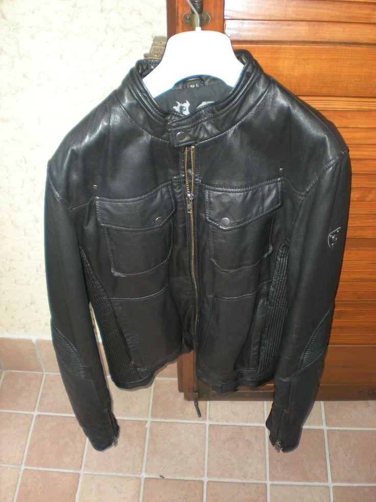 conbipel giacca pelle nera
