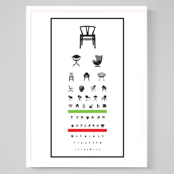 Modernist Eye Exam Poster by Joel Pirela on Fab.com