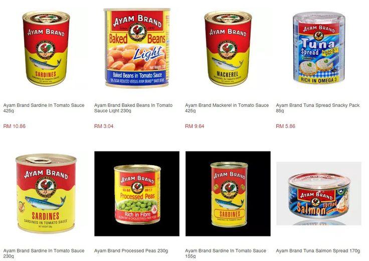 Senarai semak harga produk AYAM Brand