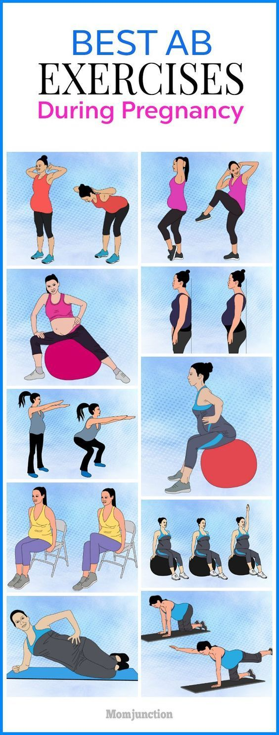 """21 Safe Abdominal (Ab) Exercises To Perform During Pregnancy  Abdominal exerc…"
