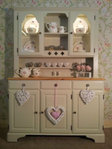 Ducal Pine Farmhouse Kitchen Welsh Dresser Shabby Chic Painted In Farrow Ball