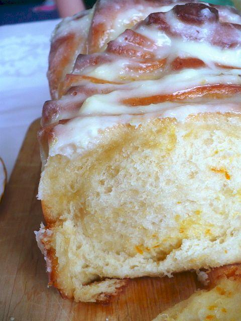 pull-apart lemon bread with cream cheese lemon frosting