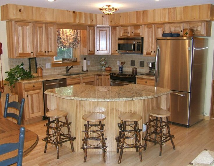 Not these colors but i like this layout dream home for Small log home kitchens