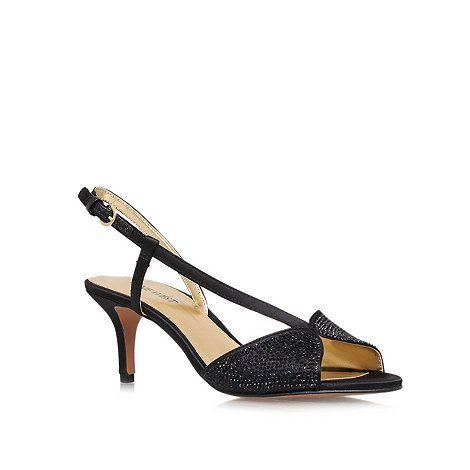 Nine West Black 'Gelsea2' Low heeled peep toe courts- at Debenhams Mobile