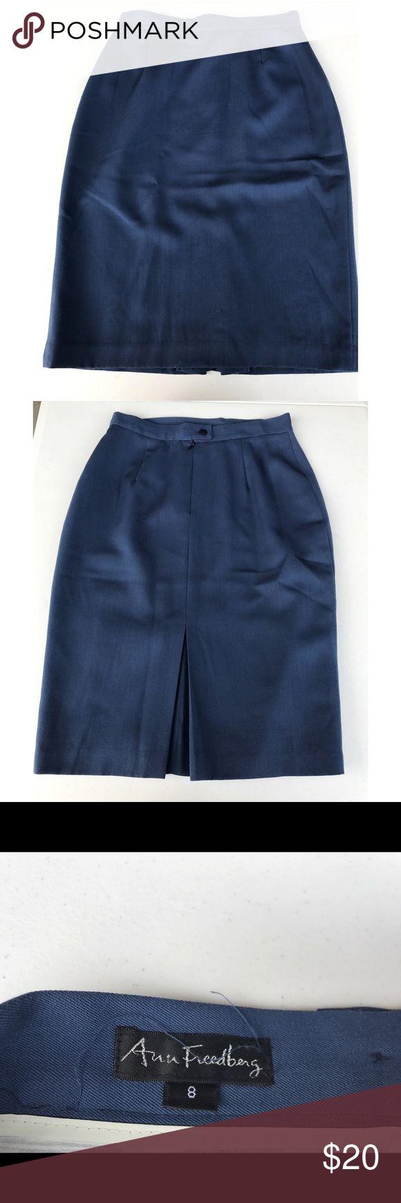 Ann Freedberg Celestial Blue Pencil Skirt Ann Freedberg celestial blue pencil skirt, Size 8 (sk1) Ann Freedberg Skirts Pencil