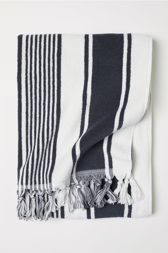 Striped Bath Towel In 2019 Terry Towel Striped Towels Bath