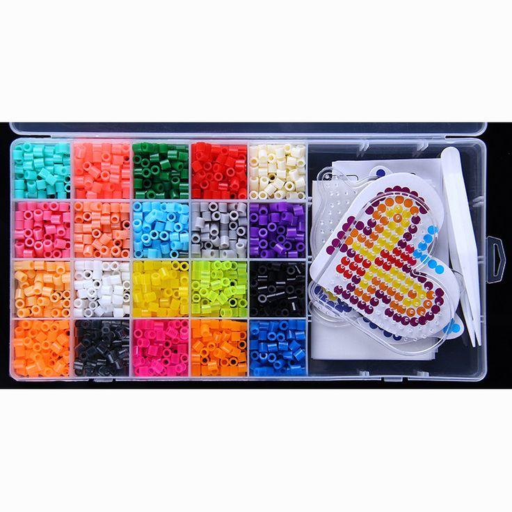 20 Color Perler Beads 2000pcs box set 5mm Hama Beads EVA Fuse beads for Children Education jigsaw puzzle Toys