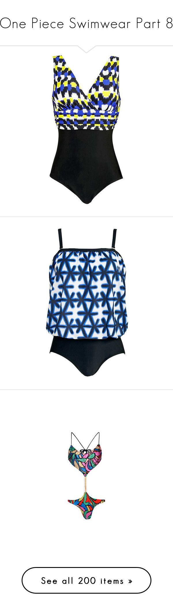 """""""One Piece Swimwear Part 8"""" by leanne-mcclean ❤ liked on Polyvore featuring swimwear, one-piece swimsuits, tummy control swimsuits, colorful swimsuits, swimsuit swimwear, tummy control swimwear, tummy control bathing suits, one piece swimsuit, bathing suit swimwear and blouson bathing suits"""