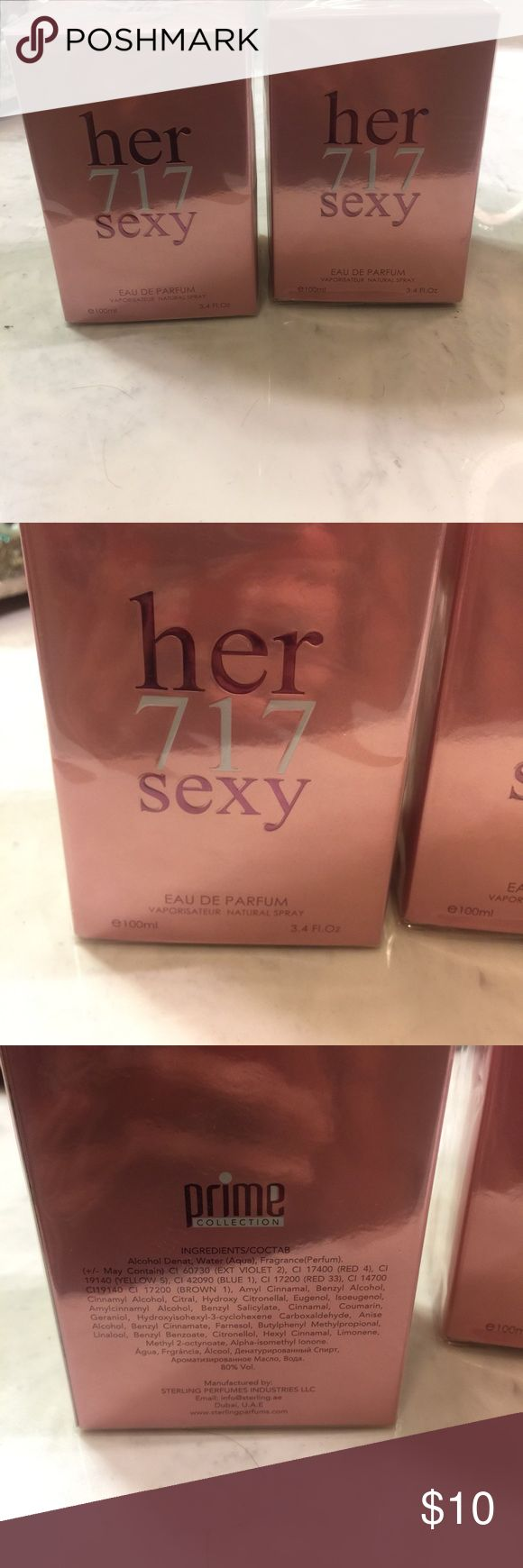 New , still in package, parfum Her 717 sexy perfume . Still in package her 717 sexy Other
