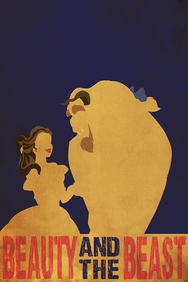 Beauty and the beast minimalist movie poster on behance for Minimal art generator