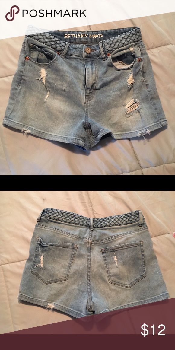 Bethany Mota shorts Destroyed style shorts from Bethany Mota collection from Aeropostale. Braided, high waisted style. EUC Aeropostale Shorts Jean Shorts