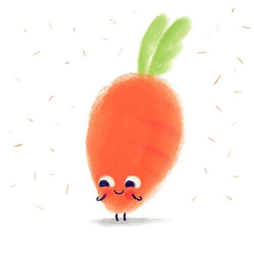 Awww Carrot Illustration Doodle Cute Instadraw
