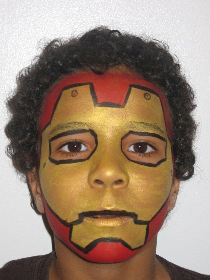 face paint iron man google zoeken grimeren pinterest face face paintings and boys face. Black Bedroom Furniture Sets. Home Design Ideas