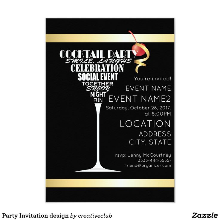 67 best Corporate Party Invitations images on Pinterest ...