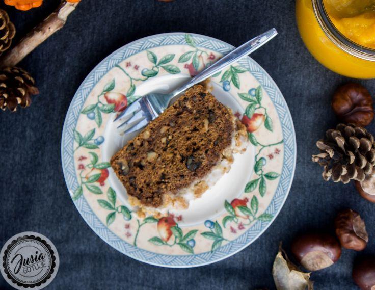 JUSIA GOTUJE Ciasto dyniowe, Proste ciasto dyniowe, Ciasto dyniowe z kruszonką, Ciasto dyniowe z orzechami.
