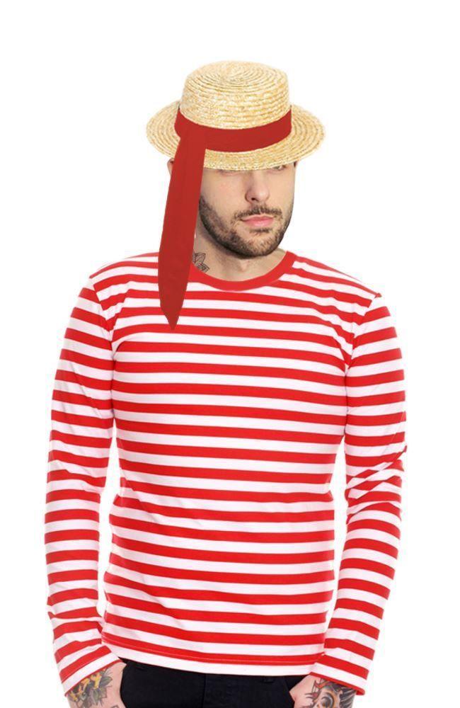 27d34f4cde1 Adults Unisex Venetian Gondolier Kit Italian Fancy Dress Venice Gondola  Costume
