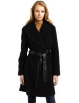 Larry Levine Women's Luxurious Shawl Collar Coat