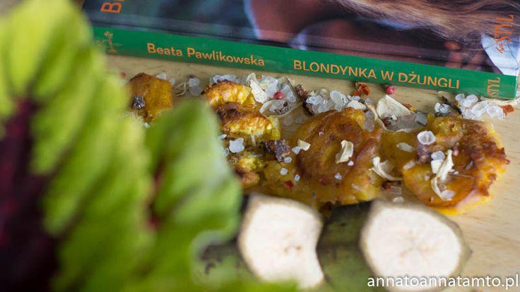 Przepis:  2 zielone  banany Olej do smażenia Sól