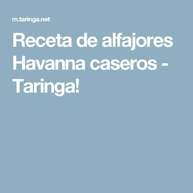 Receta de alfajores Havanna caseros - Taringa!