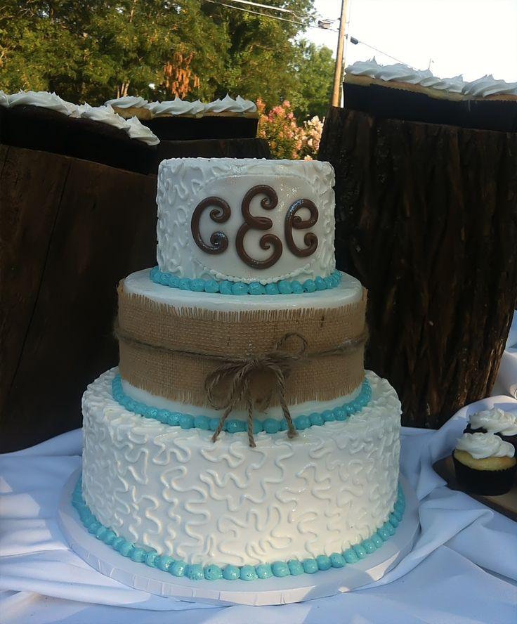 Burlap Wedding Cake