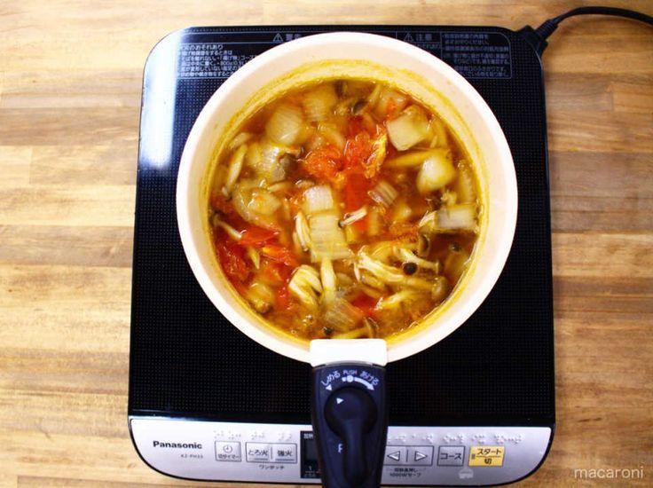 具材がしんなりしたら一生食べられるスープの火を止める