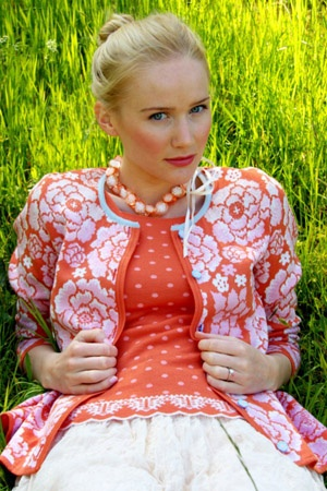 Love the Peonies on this Oleana sweater