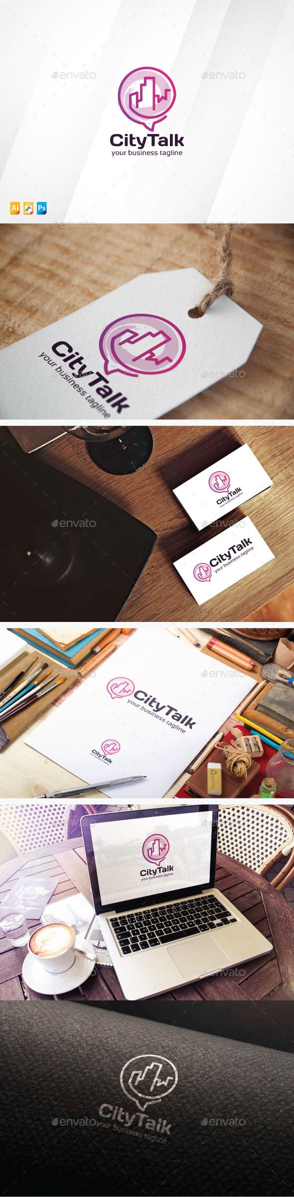 City Talk Logo Template #design #logotype Download: http://graphicriver.net/item/city-talk/13826255?ref=ksioks
