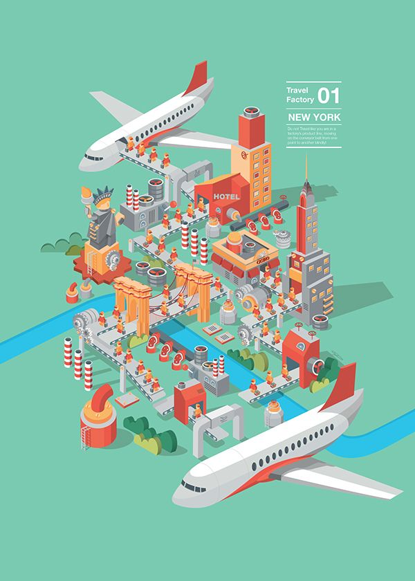 TRAVEL ISSUE by Seven Li, via Behance