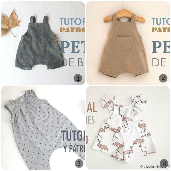 Come cucire una salopette per bambini: video tutorial passo passo e cartamodelli gratis da stampare.