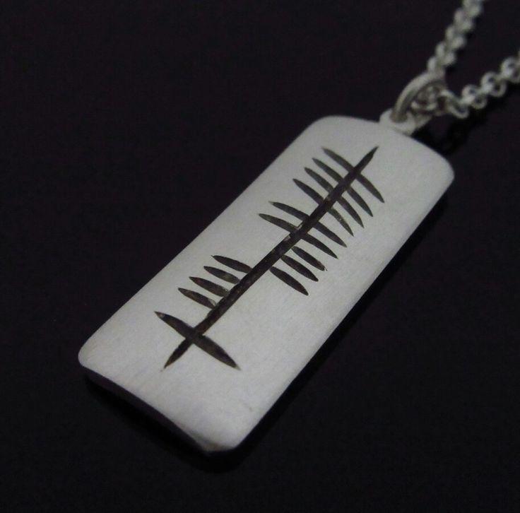 Handmade Silver Ogham engraved dogtag