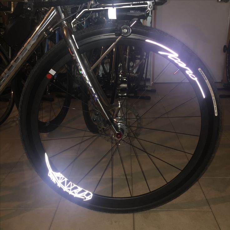"""ICARO"" wheel with #reflextion logo. Enjoy night riding!"