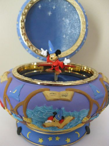 Disney Mickey Mouse Fantasia The Sorcerer's Apprentice Music Trinket Jewelry Box | eBay