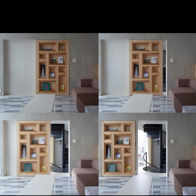 Secret sliding door bookcase   Dream Home   Pinterest   Sliding door, Doors and Secret rooms