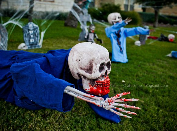 craftibilities favorite time of yearhalloween decorating - Discount Halloween Yard Decorations