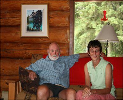 "Steven & Lynda Conway with ""A Peek at Emerald Lake"""