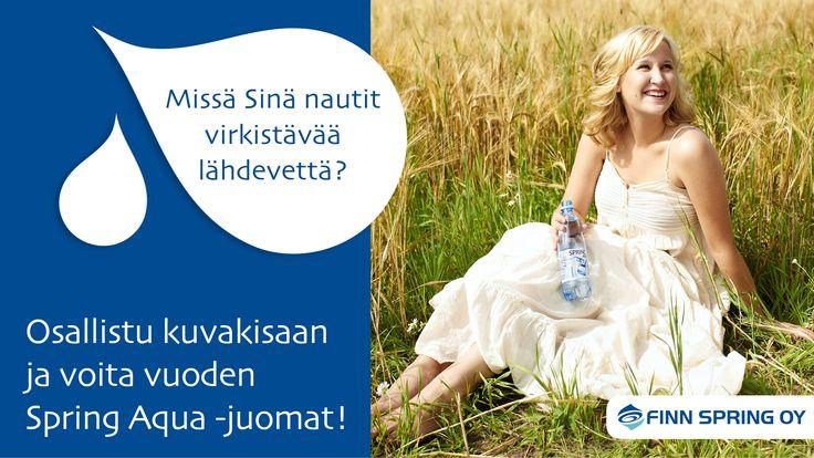 Voita vuoden Spring Aqua -juomat! Osallistu kuvakisaan osoitteessa http://springaqua.meltwaterrise.com.