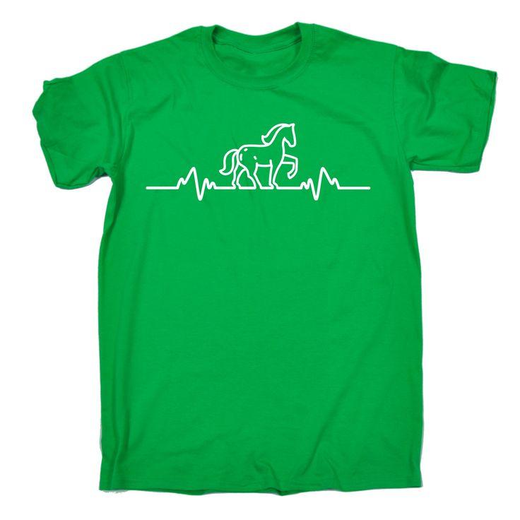 123t USA Men's Horse Pulse Funny T-Shirt