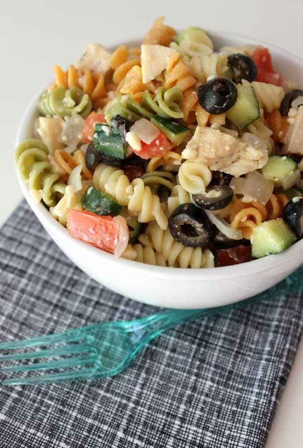 Easy deli style pasta salad | Recipe | Pasta salad, Deli
