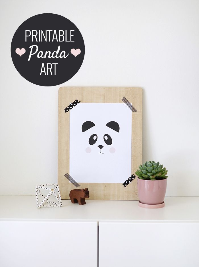 Free Printable Panda Art and the Easiest Way to Frame Art