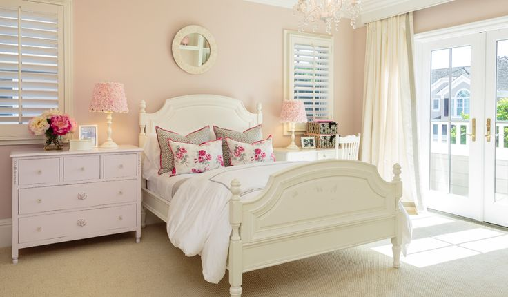 pink wall paint pink bedroom white headboard and bed frame pink