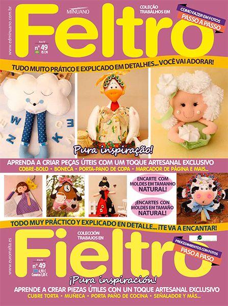 Artesanato - Feltro : COL TRABALHOS EM FELTRO 049 - Editora Minuano