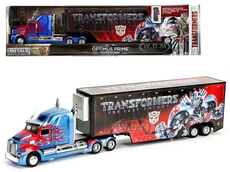 "diecastmodelswholesale - Western Star 5700 XE Optimus Prime Hauler ""Transformers 5"" 1/64 Diecast Model Car by Jada, $12.99 (https://www.diecastmodelswholesale.com/western-star-5700-xe-optimus-prime-hauler-transformers-5-1-64-diecast-model-car-by-jada/)"