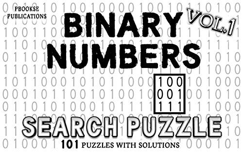 Binary Numbers Search Puzzle : PbooksE Publications Binary Numbers Search Puzzle- Vol 1 ✔ Straightforward puzzle game- Find/Spot the binary numbers ✔ Fun and challenging ✔ Enjoy the puzzles in a digital E-book(interactivity is not needed)- No pencil/pen is required ✔ 101 puzzles to explore ✔ Solution for each of... https://whizbuzzbooks.com/binary-numbers-search-puzzle-pbookse-publications/?utm_source=SNAP&utm_medium=nextscripts&utm_