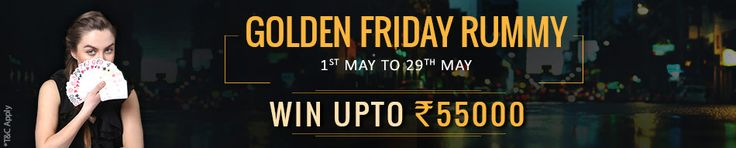 Win Rs.55,000 Prize Pool at #Adda52 Rummy! Join the Golden Rummy Friday Tournament and Win Mega Prizes! Book Your Seat!